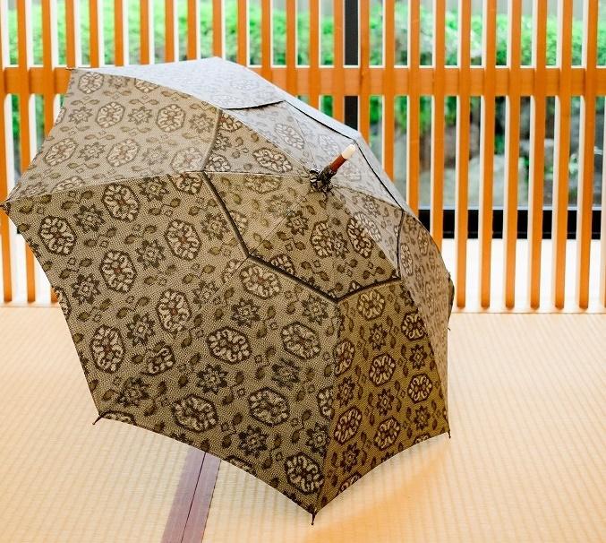 泥大島紬の日傘